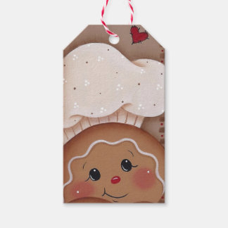 Gingerbread Man Chef Cookie Baker Gift Tag