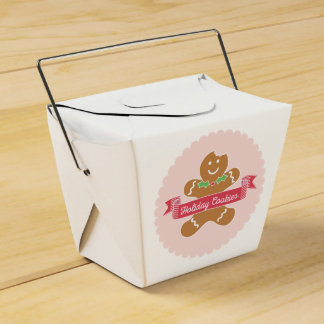 Gingerbread Man Christmas Cookie Box Favour Boxes