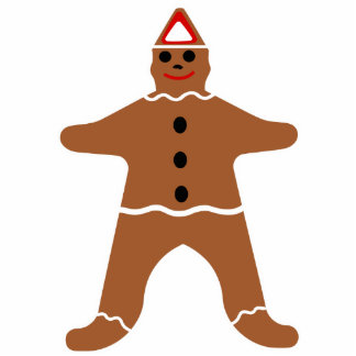 Gingerbread Man Christmas Cookie Cutout Standing Photo Sculpture