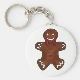 Gingerbread Man Christmas Cookie Holiday Baking Key Ring