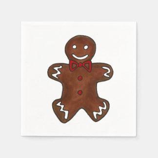 Gingerbread Man Christmas Cookie Napkins Paper Napkin