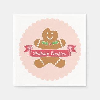 Gingerbread Man Christmas Cookie Napkins Paper Serviettes