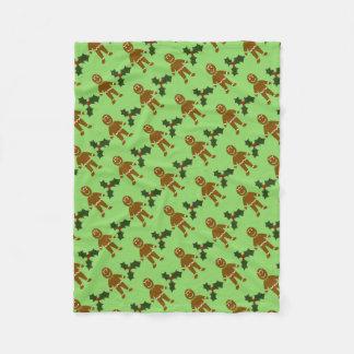 Gingerbread Man Christmas Fleece Blanket