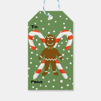 Gingerbread Man Christmas Gift Tags