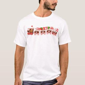 Gingerbread Man & Christmas Love Train T-Shirt