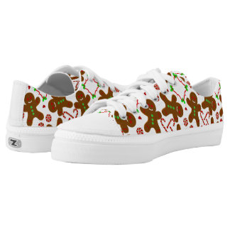 Gingerbread man Christmas personalizable Low Tops