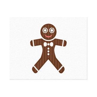 Gingerbread Man Cookie Canvas Print