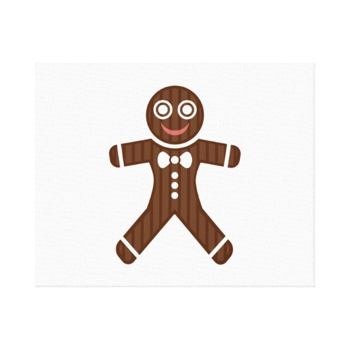 Gingerbread Man Cookie Canvas Print