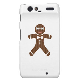 Gingerbread Man Cookie Motorola Droid RAZR Cases