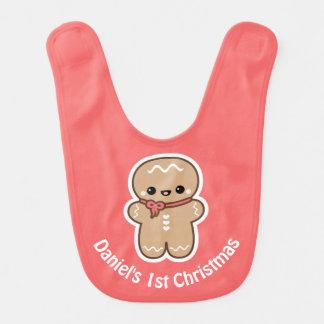 Gingerbread Man Cookie Christmas Bib