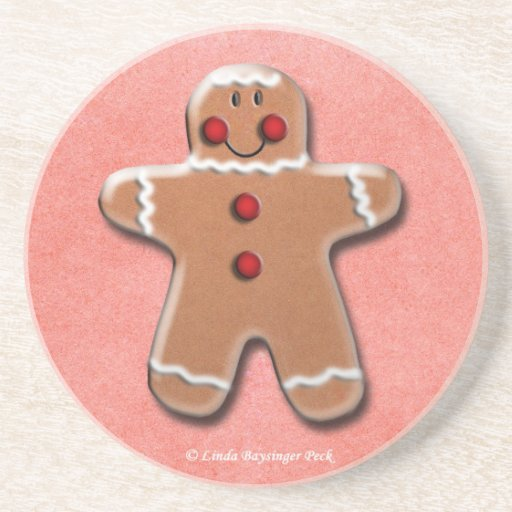 Gingerbread Man Cookie Coaster