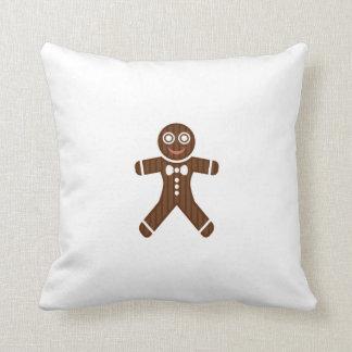 Gingerbread Man Cookie Throw Pillows