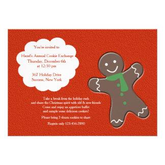 Gingerbread Man Cookie Exchange Invitation