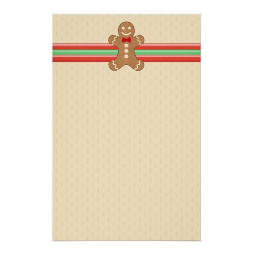 Gingerbread Man Cookie Holiday Stationery