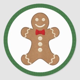 Gingerbread Man Cookie Holiday Stickers