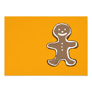 "Gingerbread man cookie 5"" x 7"" invitation card"
