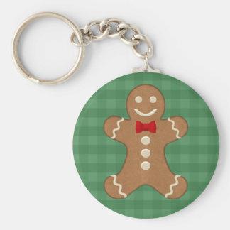 Gingerbread Man Cookie Keychain