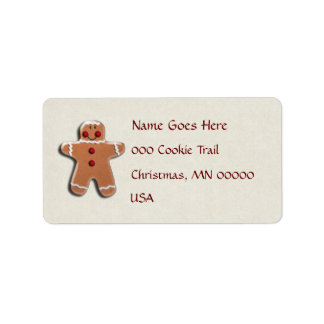 Gingerbread Man Cookie Label