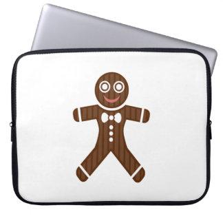 Gingerbread Man Cookie Laptop Computer Sleeves
