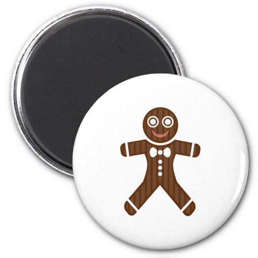 Gingerbread Man Cookie Magnet