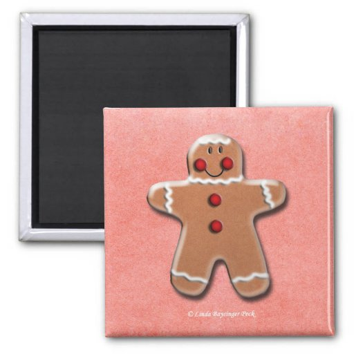 Gingerbread Man Cookie Magnets