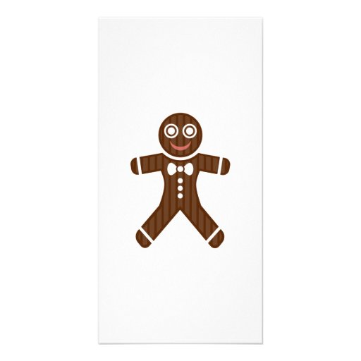 Gingerbread Man Cookie Photo Card Template