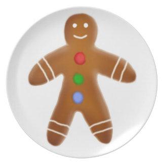 Gingerbread Man Cookie Plate