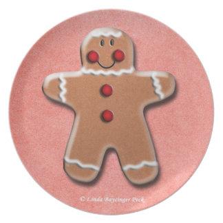 Gingerbread Man Cookie Dinner Plates