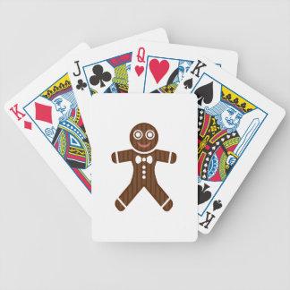 Gingerbread Man Cookie Bicycle Poker Deck