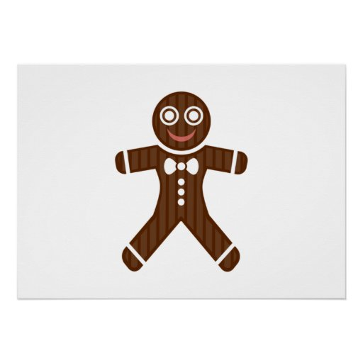 Gingerbread Man Cookie Poster