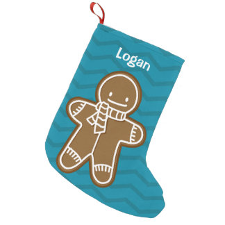 Gingerbread Man cookie Small Christmas Stocking