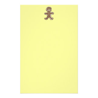 Gingerbread man cookie stationery design