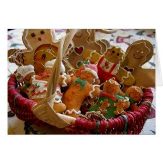 gingerbread man cookies greeting card