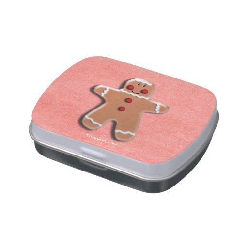 Gingerbread Man Cooky Candy Tin