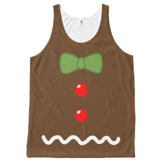 Gingerbread Man Costume All-Over Print Singlet