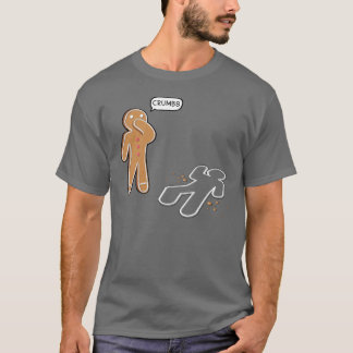 Gingerbread man  'CRUMBS' Funny T-shirt