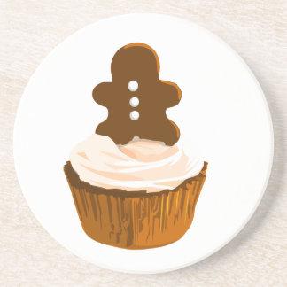 Gingerbread man cupcake coaster