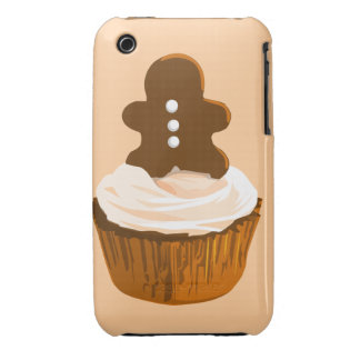 Gingerbread man cupcake iPhone3g case Case-Mate iPhone 3 Cases