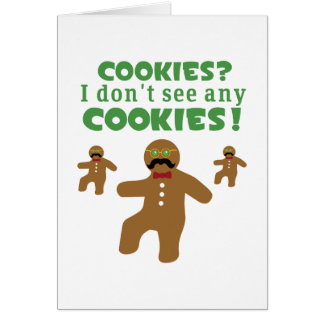 Gingerbread Man Disguise Card