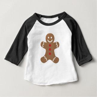 Gingerbread Man Drawing Baby T-Shirt