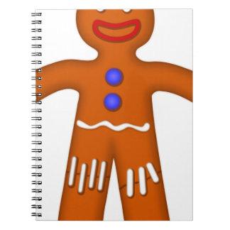 Gingerbread Man Drawing Notebook
