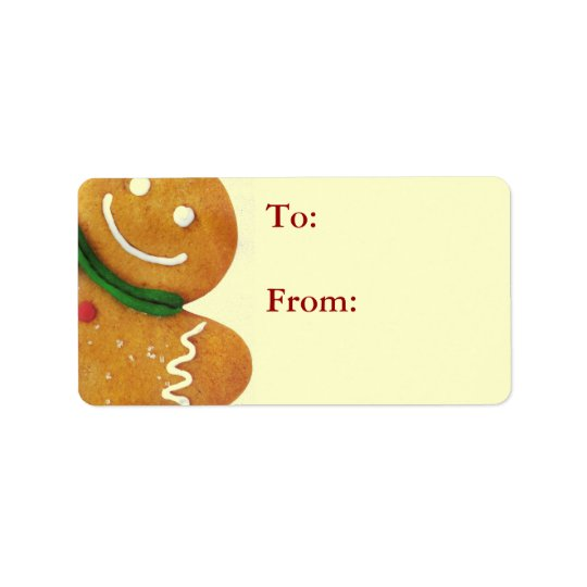 Gingerbread Man Gift Tags Address Label