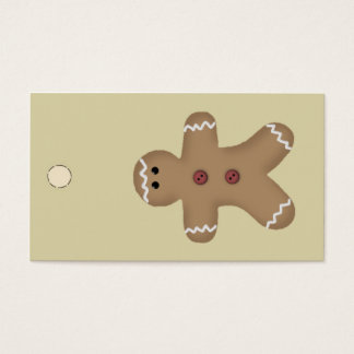 Gingerbread Man Hang Tag or Gift Tag