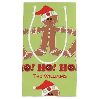 Gingerbread Man Ho Ho Ho Small Gift Bag