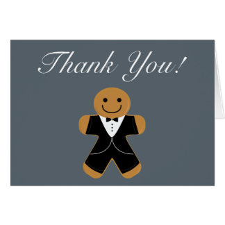 Gingerbread Man in Tuxedo thank you Card