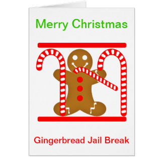 Gingerbread Man Jail Break Card