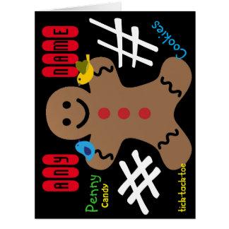 Gingerbread Man Kids, Candy, Cookies, Fun! Sweet Big Greeting Card
