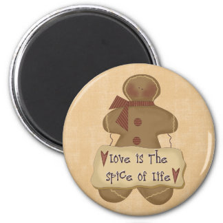 Gingerbread Man Love is the Spice of Life Magnet