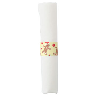 Gingerbread man Merry Christmas Napkin Band