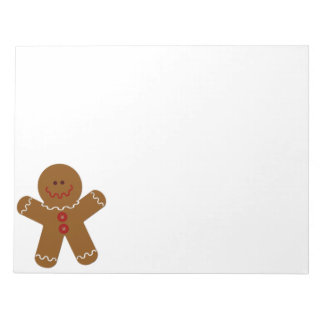 Gingerbread Man Notepad
